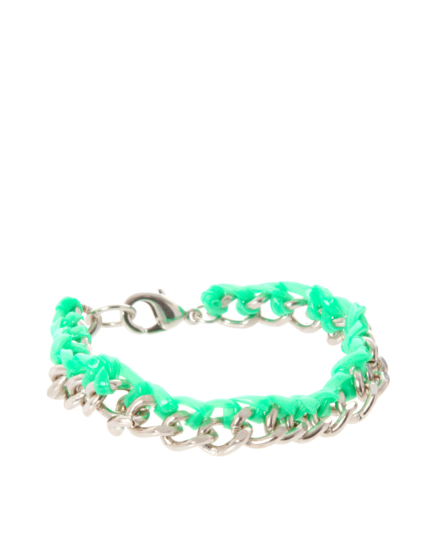 Chain and Gummy Bracelet from ASOS $5