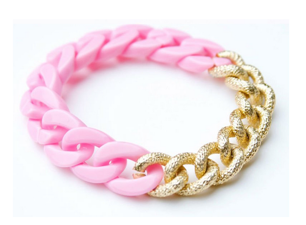 Hot Pink Chain Bracelet from Ooh La Luxe $8.50